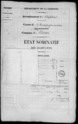Une page d'un registre